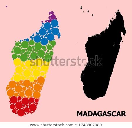 cumhuriyet · Madagaskar · küçük · 3d · man · bayrak - stok fotoğraf © istanbul2009