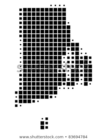 Map of USA Rhode Island State with Dot Pattern Stock photo © Istanbul2009
