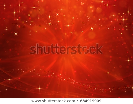 golden stars in red background Stock photo © marinini