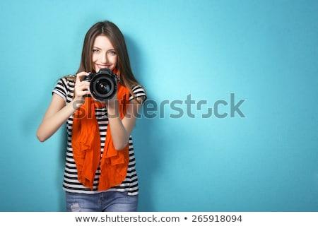 portret · vrolijk · vrouwelijke · fotograaf · witte · gelukkig - stockfoto © wavebreak_media