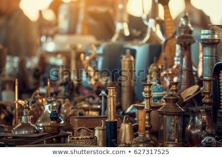 klasszikus · tárgyak · bolt · tojás · idő · lámpa - stock fotó © kasto