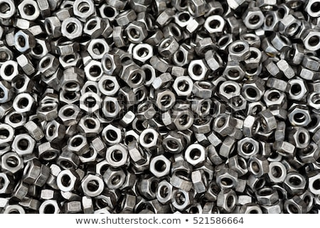 metal nuts, washers, bolts, closeup stock photo © OleksandrO