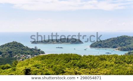 gyönyörű · trópusi · sziget · széles · látószögű · halszem · kilátás - stock fotó © yongkiet