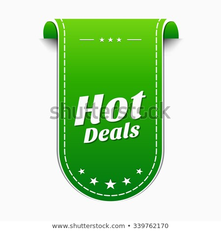 Forró akciók zöld vektor ikon terv Stock fotó © rizwanali3d