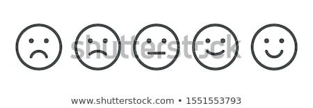 Stock fotó: Boldogság · szomorúság · jelzőtábla · háttér · szomorú · piros