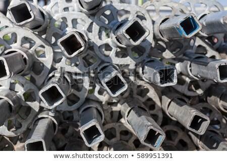 piled scaffolding metal pipes stock photo © stevanovicigor