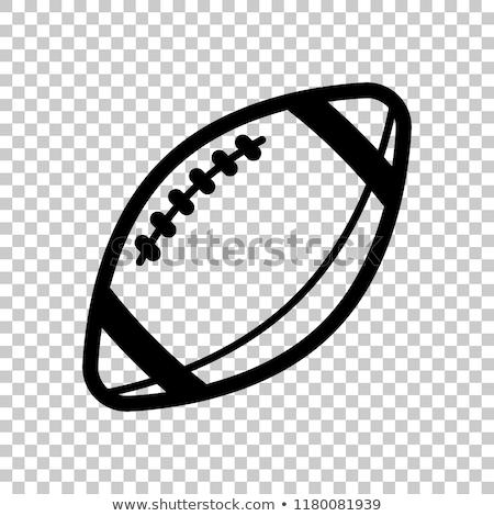 rugby ball american football icon design Stock photo © blaskorizov