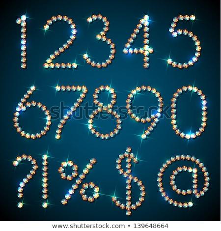 Gems A letter. Shiny diamond font. stock photo © logoff
