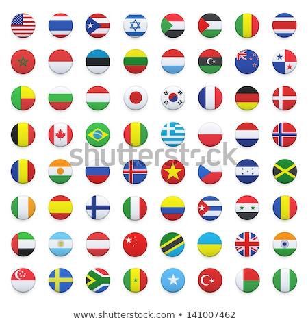 ícone bandeira Marrocos assinar branco Foto stock © MikhailMishchenko
