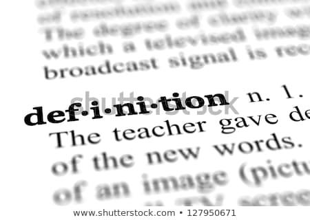 Stock photo: Dictionary definition translation