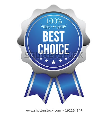 Stok fotoğraf: Best Choice Blue Vector Icon Design