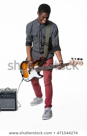 рук · рок · музыканта · гитаре · играет · старые - Сток-фото © feedough
