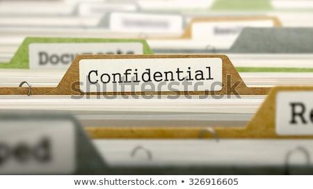 Confidencial carpetas catálogo documento primer plano Foto stock © tashatuvango