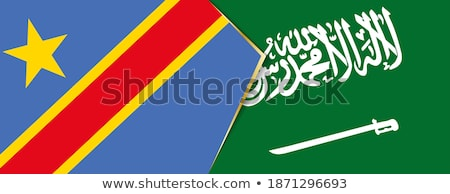 Saudi-Arabien demokratischen Republik Kongo Fahnen Puzzle Stock foto © Istanbul2009