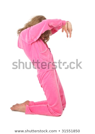 girl in pink clothes represents letter s stock photo © paha_l