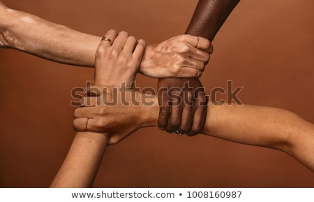 four hands hold each other stock photo © Paha_L