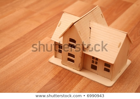 model of house on the wooden foor Stock photo © Paha_L