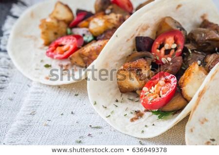 朝食 · タコス · ソーセージ · チーズ · ピーマン · 2 - ストックフォト © rojoimages