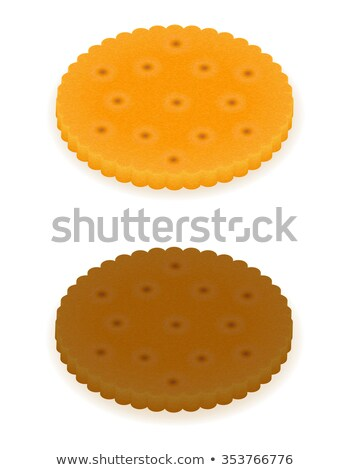 croustillant · biscuit · cookie · isolé · gris · alimentaire - photo stock © konturvid