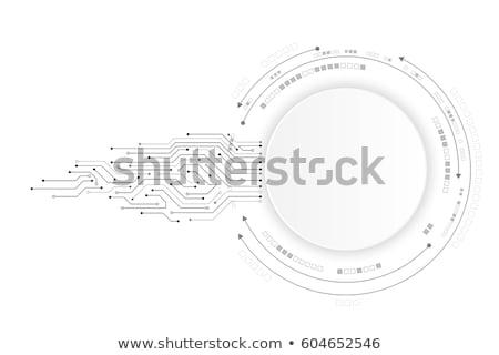 Resumen tecnología circuito flechas vector diseno Foto stock © saicle