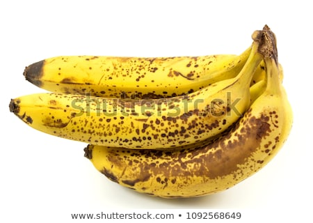Banaan geïsoleerd witte vruchten achtergrond zwarte Stockfoto © Alsos