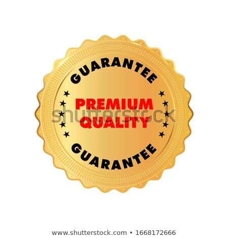 genuine guaranteed red seal vector icon stock photo © rizwanali3d