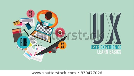 ux user experience background concept with doodle design style stock photo © davidarts
