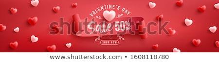 Liefde lint hartvorm gedekt groot Valentijn Stockfoto © Soleil