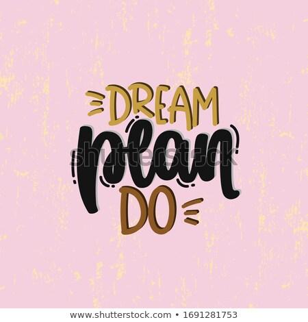 Dream Planning Stock photo © Lightsource