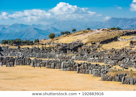 Sacsayhuaman, Incas ruins in the peruvian Andes at Cuzco  Stock photo © meinzahn