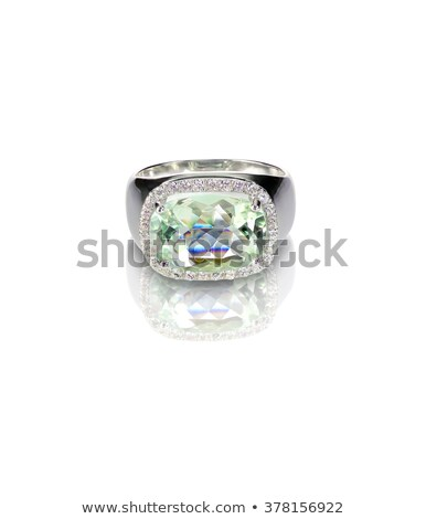 Turquoise silver fashion ring cushion cut Stock photo © fruitcocktail