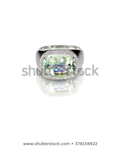 бирюзовый · серебро · моде · кольца · подушка · Cut - Сток-фото © fruitcocktail
