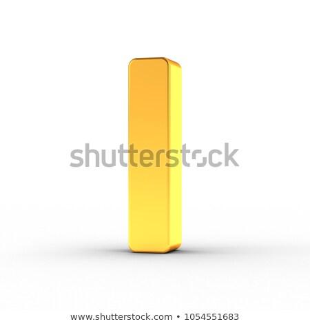 Letra i polido dourado objeto branco Foto stock © creisinger
