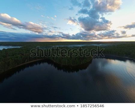 Yüksek uçurum görmek göl sınır Stok fotoğraf © wildnerdpix