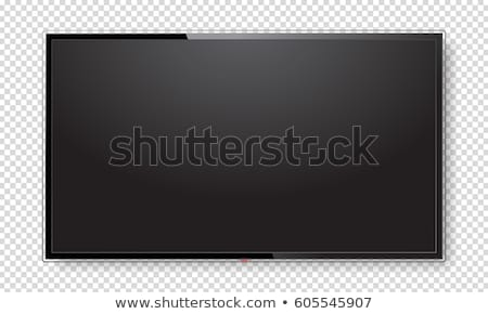 Modern düz ekran televizyon imzalamak izlemek mavi Stok fotoğraf © kurkalukas