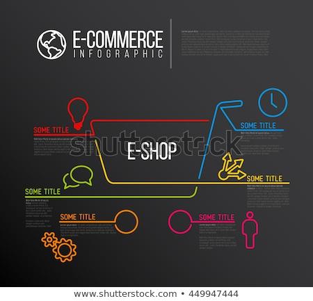 winkelen · lijn · ontwerp · sjabloon · communie - stockfoto © orson