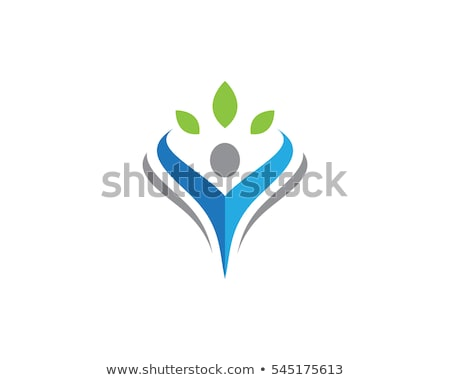 Leuk mensen gezond leven icon logo sjabloon Stockfoto © Ggs