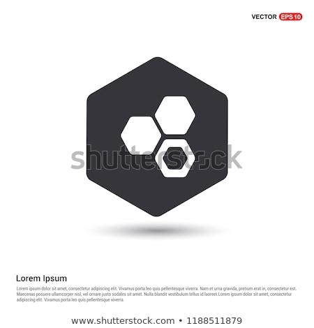 Foto stock: ícone · química · conexão · cor · projeto · médico