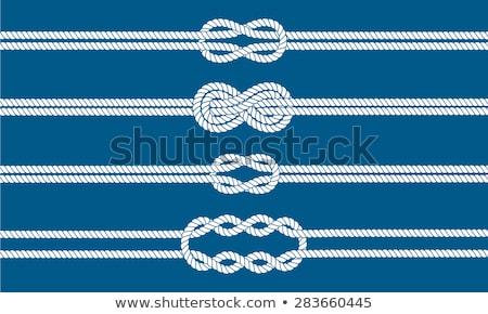 matroos · knoop · ingesteld · touw · oneindigheid - stockfoto © pakete