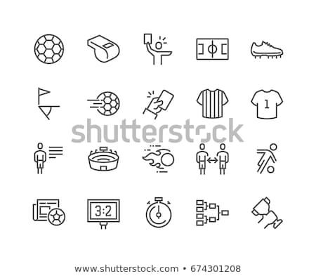 Futball vonal ikon szett szett ikonok háló Stock fotó © Voysla