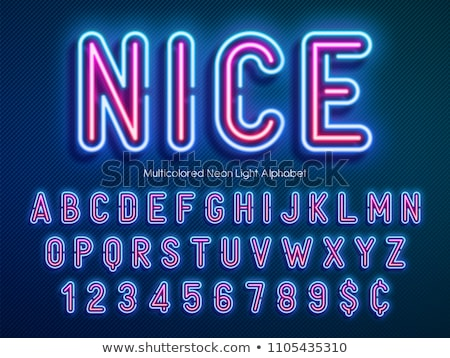 Neon coloured letters Stock photo © bluering