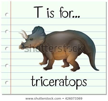 вектора · изображение · смешные · Cartoon · динозавр · дизайна - Сток-фото © bluering