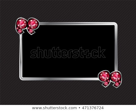 frame of rubies red box with space for text precious stones stock photo © maryvalery