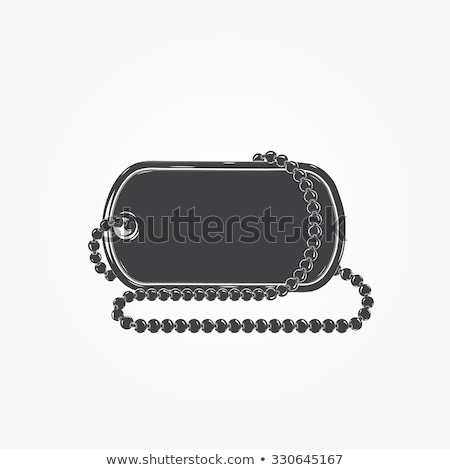Army soldiers badge. Vector illustration of a military accessory Stock photo © popaukropa