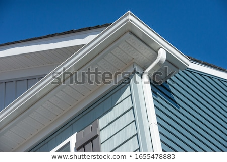 Gutter on Roof Stock photo © icemanj