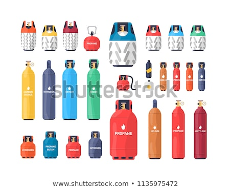 Différent carburant illustration bouteille rouge magasin Photo stock © bluering