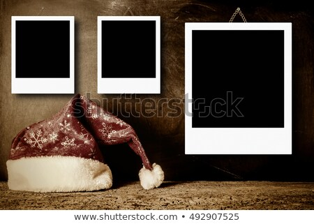 Kerstmis drie vintage lege frames christmas Stockfoto © marimorena