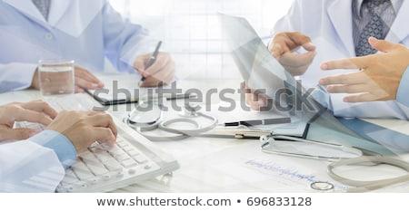 Orvosi tok illusztráció fehér grafikus gyógyszertár Stock fotó © bluering