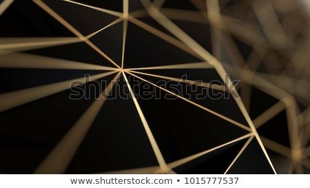 gouden · 3D · abstractie · futuristische · plaat · ontwerp - stockfoto © cherezoff