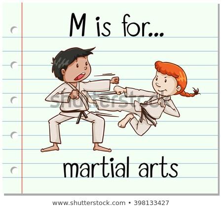 M betű küzdősportok illusztráció gyerekek sport gyermek Stock fotó © bluering